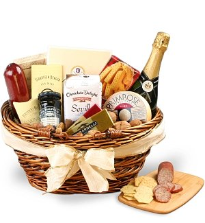 Gourmet Champagne Basket