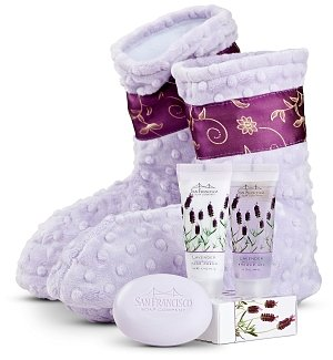 Spa Booties with Lavender Aromatherapy