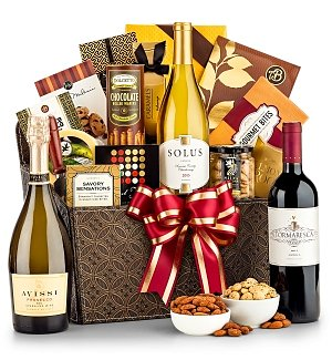 Wine and Fine Fare Gift Basket