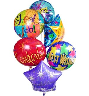 Congratulations Balloon Bouquet-6 Mylar