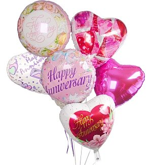 Anniversary Balloon Bouquet-6 Mylar