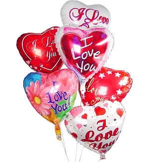 Valentine's Day Balloon Bouquet-6 Mylar