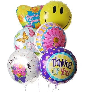 Thinking of You Balloon Bouquet-6 Mylar
