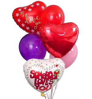 Romantic Balloon Bouquet-6 Mixed