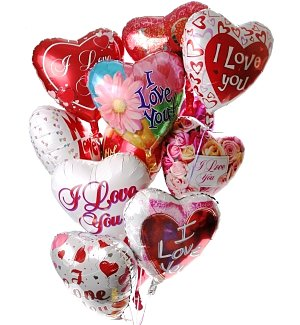 Valentine's Day Balloon Bouquet-12 Mylar