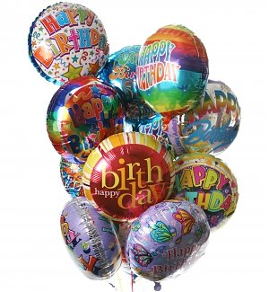 Birthday Balloon Bouquet-12 Mylar
