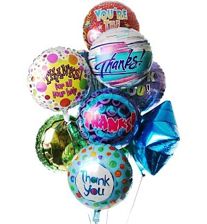 Thank You Balloon Bouquet-12 Mylar