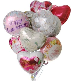 Anniversary Balloon Bouquet-12 Mylar