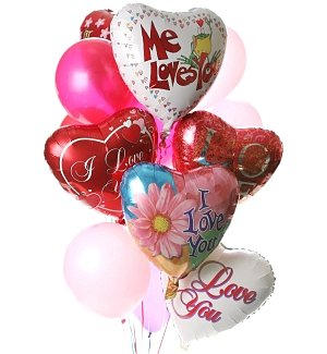 Valentine's Day Balloon Bouquet-12 Mixed