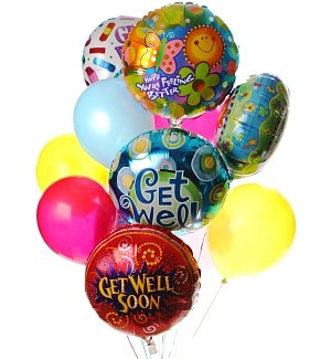 Get Well Balloon Bouquet-12 Mixed