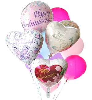 Anniversary Balloon Bouquet-12 Mixed