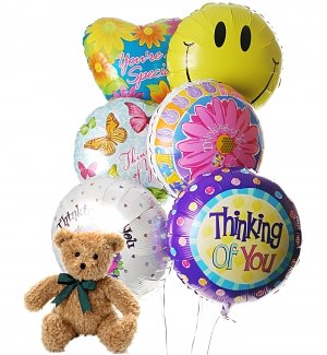 Thinking of You Balloons & Bear-6 Mylar
