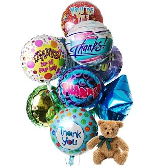 Thank You Balloons & Bear-12 Mylar