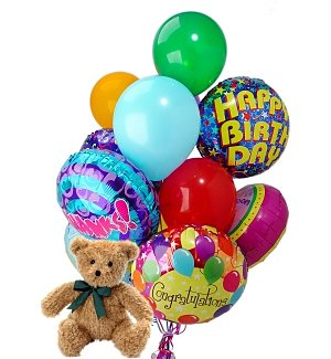 Balloons & Bear-12 Mixed