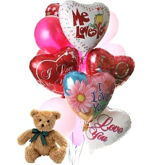 Romantic Balloons & Bear-12 Mixed
