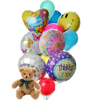 Friendship Day Balloons & Bear-12 Mixed