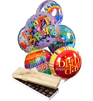 Birthday Balloons & Chocolate-6 Mylar