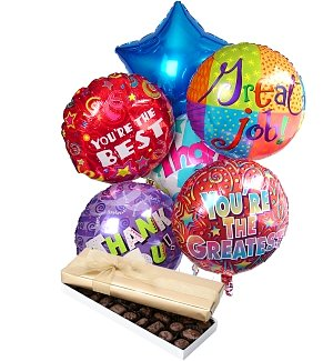 Thank You Balloons & Chocolate-6 Mylar