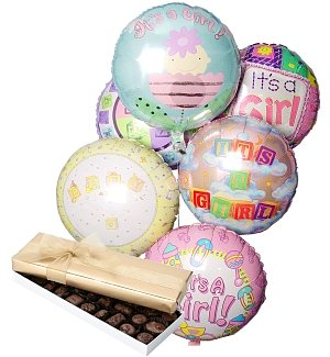 New Baby Balloons & Chocolate-6 Mylar