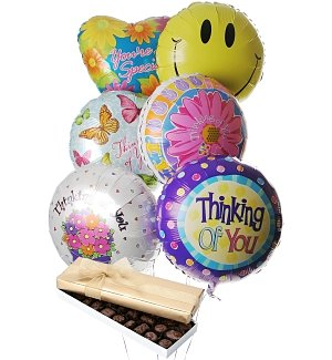 Thinking of You Balloons & Chocolate-6 Mylar