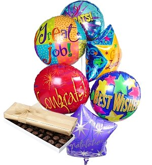 Congratulations Balloons & Chocolate-6 Mylar