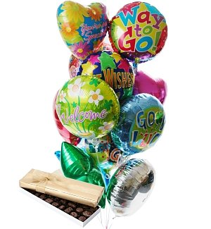Balloons & Chocolate-12 Mylar