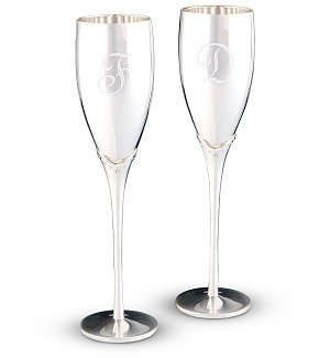 Engraved Toasting Flutes