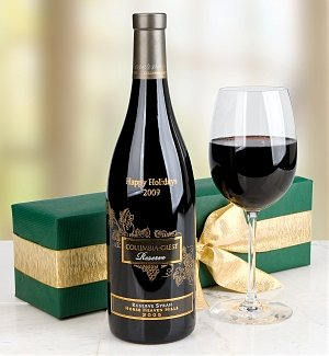 Engraved Columbia Crest Syrah