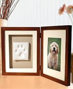 Dog PawPrint Desktop Frame