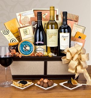 Luxury Wine & Gourmet Gift Basket