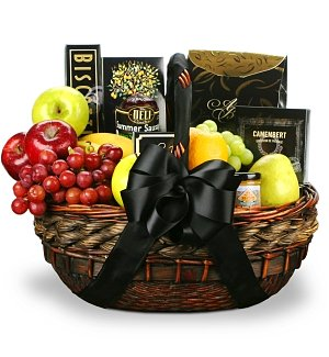 Our Condolences Fruit and Gourmet Basket
