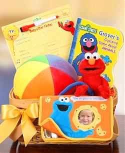 Elmo and Friends Baby Basket