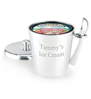 Birthday Wishes Ice Cream Bucket with Scoop