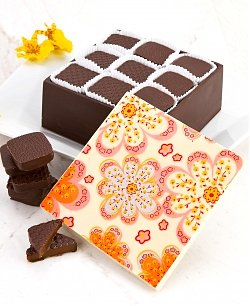 Edible Chocolate Box with Fleur de Sel Truffles