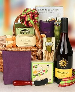 California Comforts Wine Gift Basket