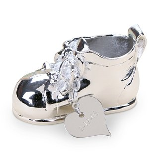 Engraved Baby Shoe Keepsake