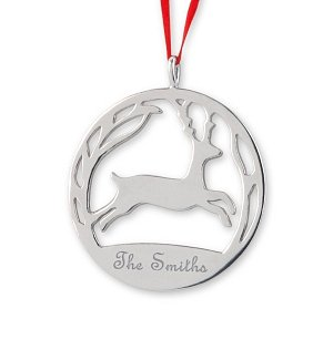 Engraved Reindeer Ornament