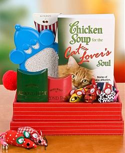 Chicken Soup for the Cat Lover's Soul Gift Basket