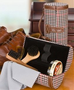 Dad's Premium Shoe Shine Kit with Free Embossing