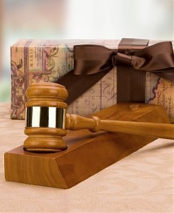 Gavel with Engraved Stand