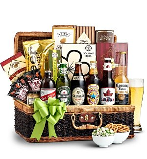 Eat, Drink, & Be Merry Beer Basket