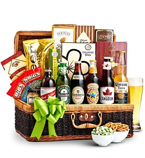 Craft Beer & Snacks Basket