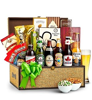 Craft Beer and Snacks Basket