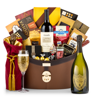 Champagne Baskets: Dom Perignon 2006 Windsor Luxury Gift Basket