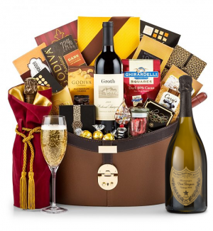 Dom Perignon 2003 Windsor Luxury Gift Basket