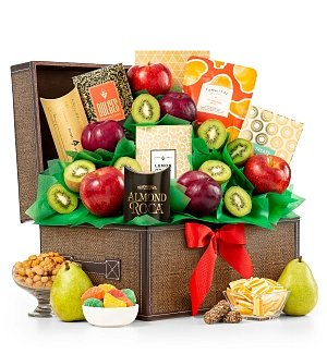 Fresh Fruit and Chocolate Keepsake Chest