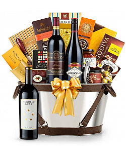 Hundred Acre Ark Vineyard Cabernet Sauvignon 2010- Martha's Vineyard Luxury Wine Basket