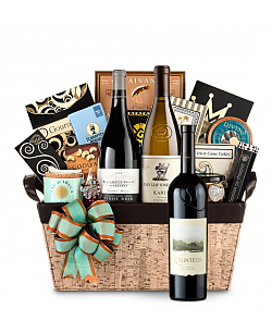Quintessa Meritage Red Wine Basket - Cape Cod