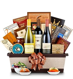Premium Holiday Wine Gift Basket