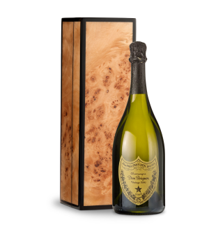 Wine Gift Boxes: Dom Perignon 2006 in Handcrafted Burlwood Box